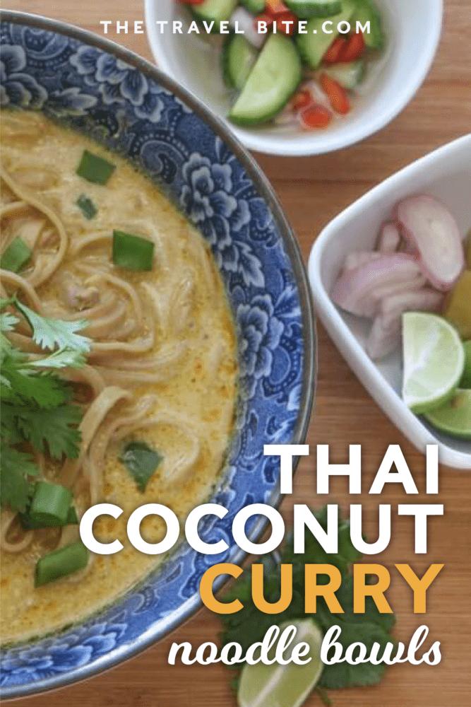 Thai Coconut Curry Noodle Bowls - Crock-Pot Khao Soi