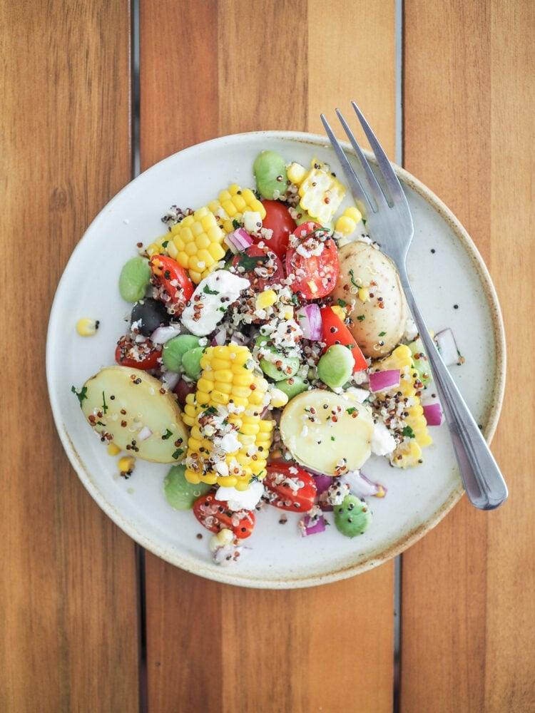 """Overhead photo of """"The Best Quinoa Salad -Solterito"""""""