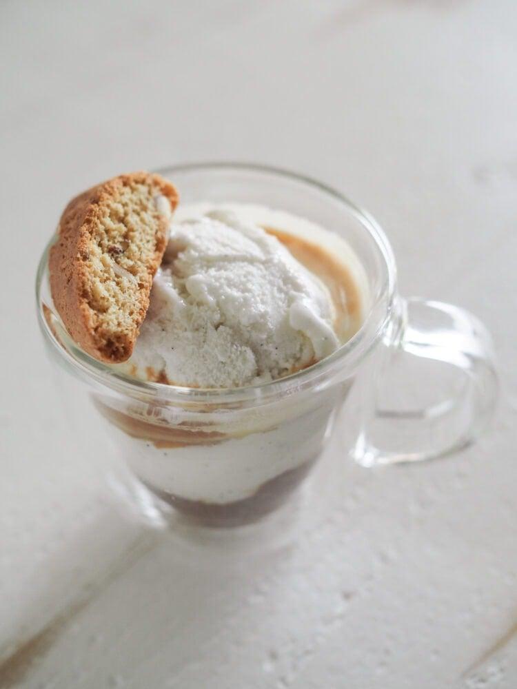 Affogato with biscotti - TheTravelBite.com