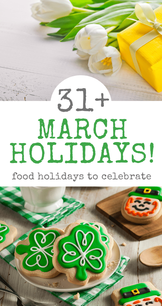 March Food Holidays Pinterest Pin
