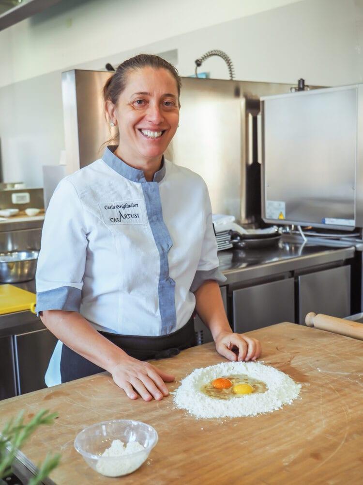 Carla, one of the main teachers at Casa Artusi Cooking School.