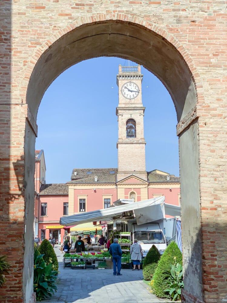 Piazza Garibaldi in Forlimpopoli.